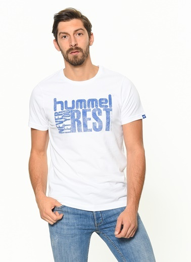 Hummel Baskılı Tişört Beyaz